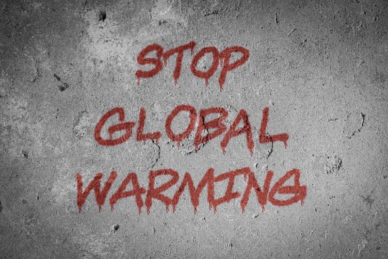 Остановите предпосылку концепции глобального потепления иллюстрация вектора