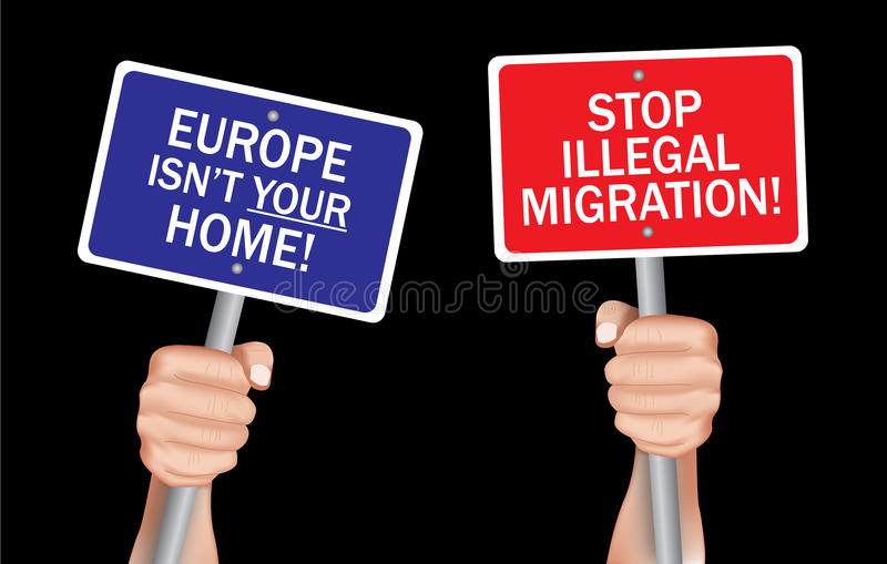 Остановите противозаконную миграцию стоковая фотография