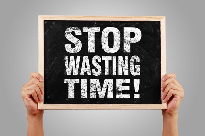 Остановите расточительствовать время стоковые изображения
