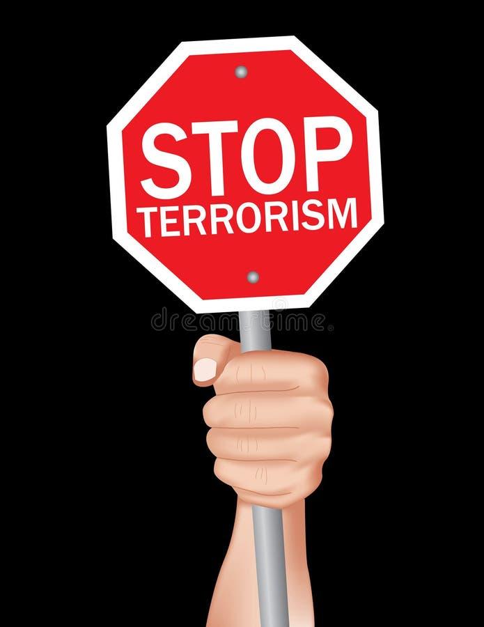 Остановите терроризм стоковые фото