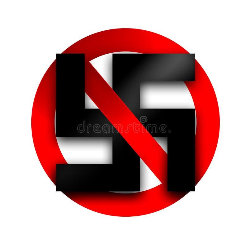 Остановите фашизм иллюстрация штока