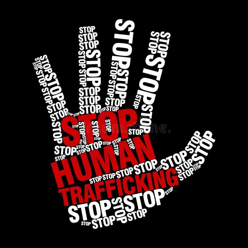 Остановите шаблон логотипа торговли людьми бесплатная иллюстрация