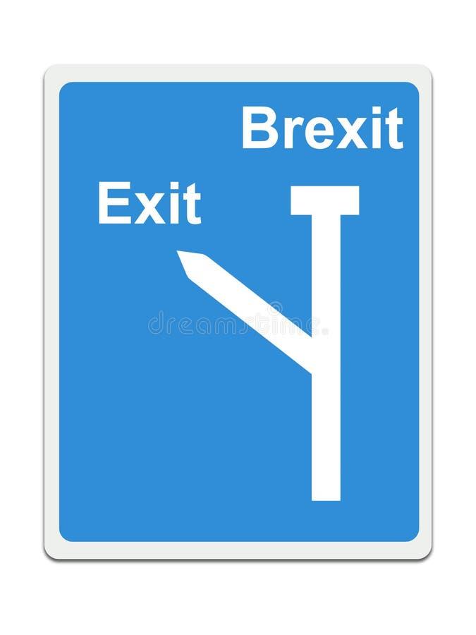 Остановите Brexit, дорожный знак EC на белой предпосылке Концепция, политика в Великобритании иллюстрация вектора