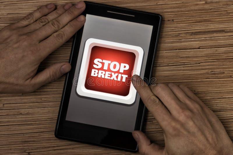 Остановите brexit стоковые фотографии rf