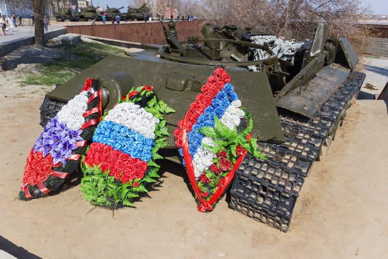 Остатки боевого танка T-34 стоковое изображение rf