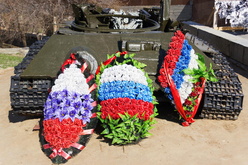 Остатки боевого танка T-34 стоковые изображения
