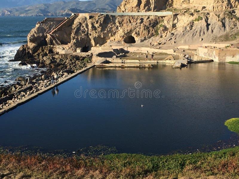 Остатки ванн Sutro, Сан-Франциско, 2 стоковые изображения