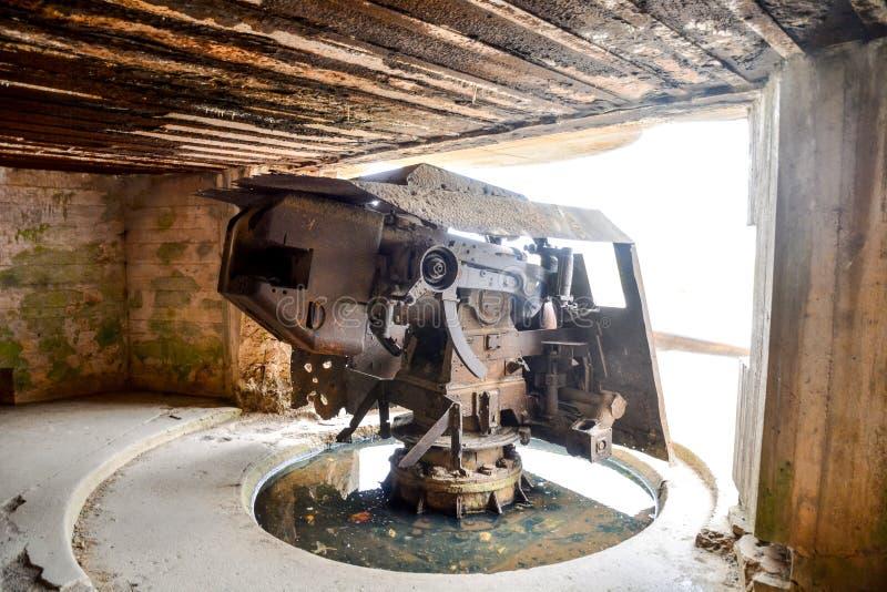 Остатки гавани шелковицы в Нормандии Франции, Европе стоковые изображения