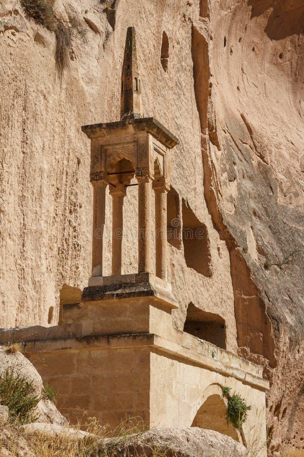 Остатки комплекса монастыря Zelve вырезанного в скале стоковые фото