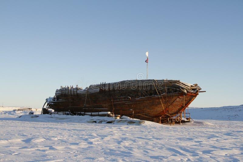 Остатки кораблекрушением Maud, залива Nunavut Кембриджа стоковые фото