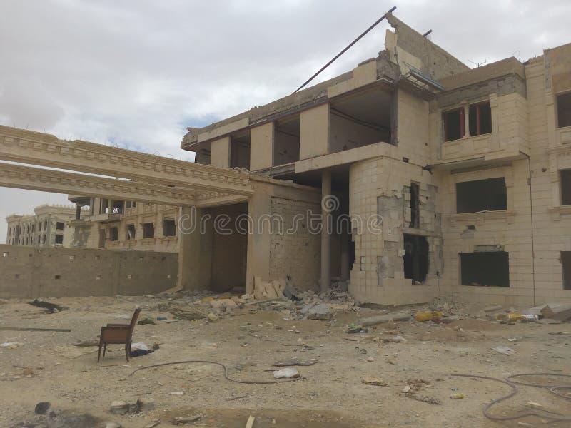 Остатки разрушенной структуры, поселения стоковая фотография rf