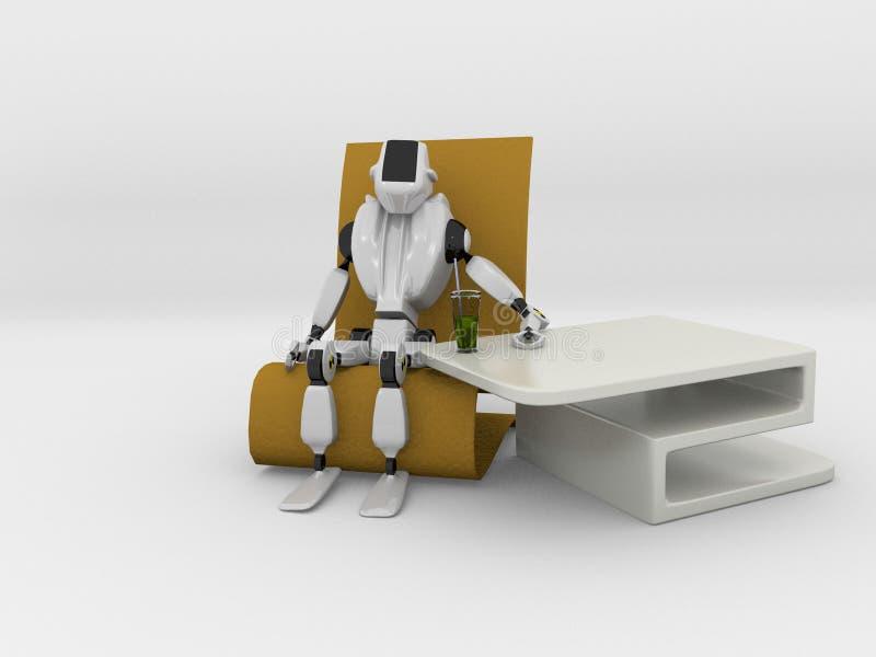 Остатки робота иллюстрация штока