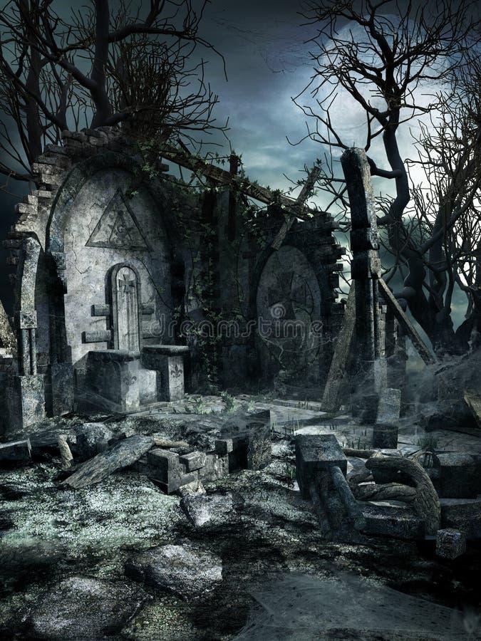 Остатки старой святыни бесплатная иллюстрация