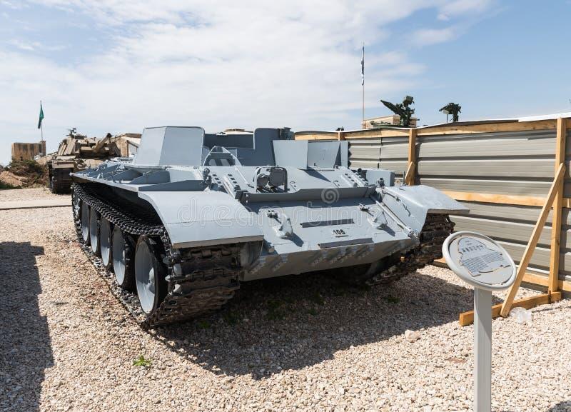 Остатки танка Совета T55 захваченного от Ливана на мемориальном месте о стоковое фото rf