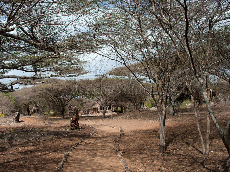 Остатки Takwa в районе Lamu в Кении стоковое изображение