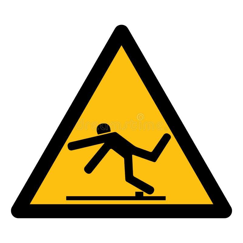 Остерегите изолят символа опасности отключения на белой предпосылке, иллюстрации EPS вектора 10 иллюстрация штока