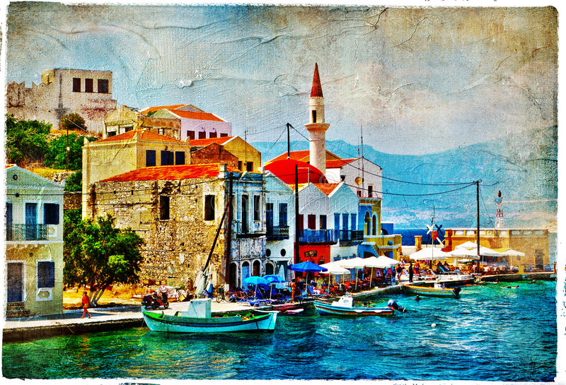 острова Греции prety стоковая фотография rf