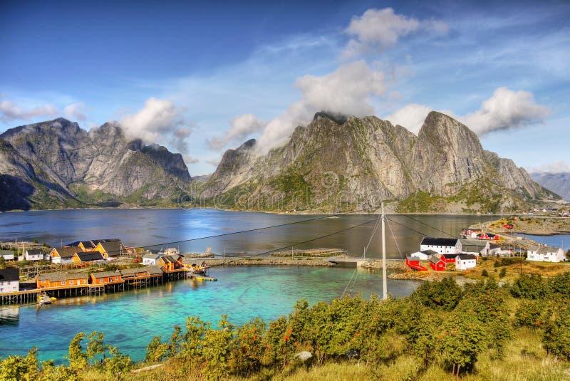 Острова Норвегия Reine Lofoten стоковая фотография