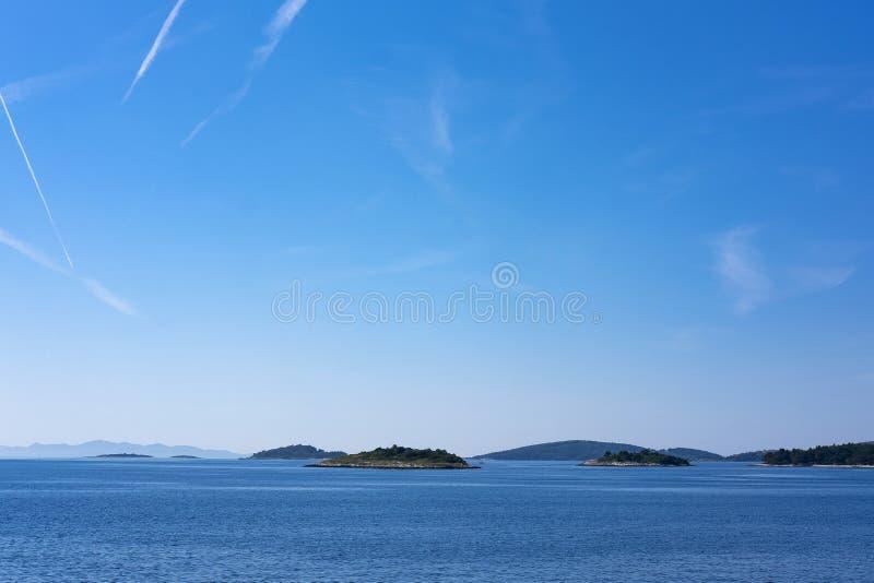 Острова около Korcula, Далмации стоковое изображение rf