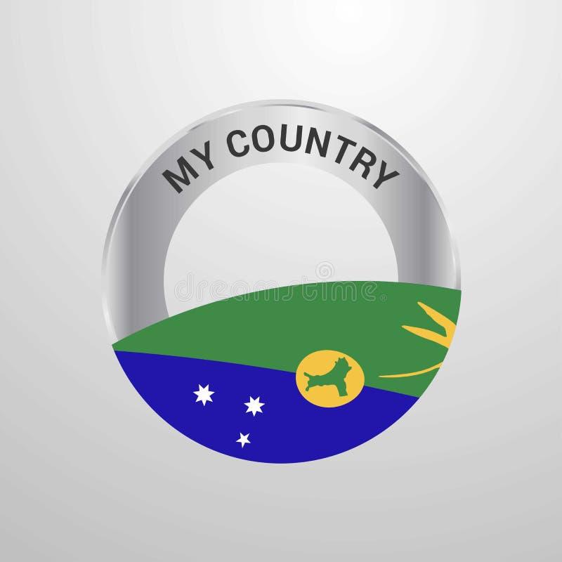Острова Рождества мой значок флага страны иллюстрация вектора