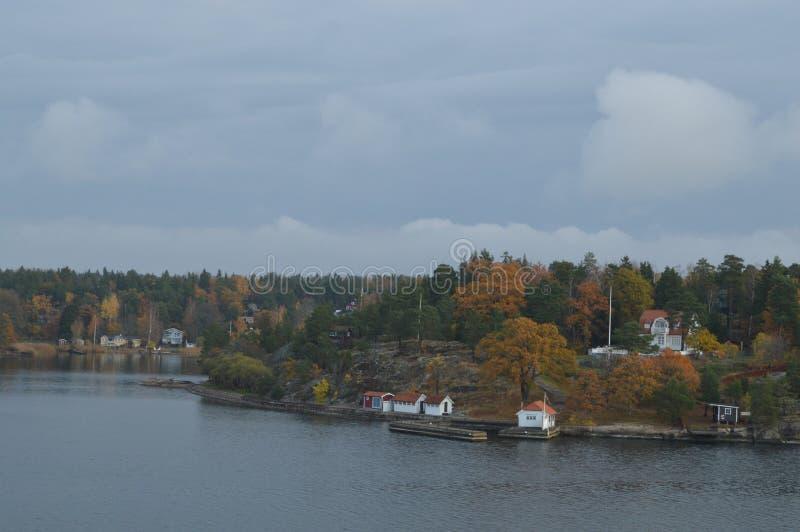 Острова Швеции в Балтийском море стоковое изображение rf