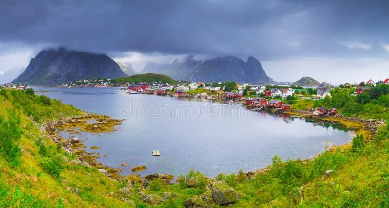 Острова Lofoten, деревня Reine стоковые изображения