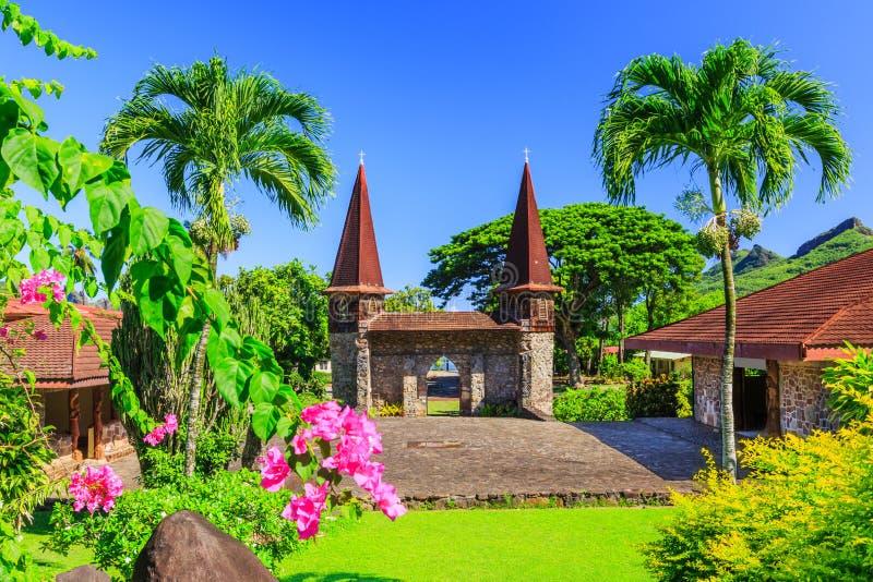 Острова Marquesas, Nuku Hiva стоковое изображение rf