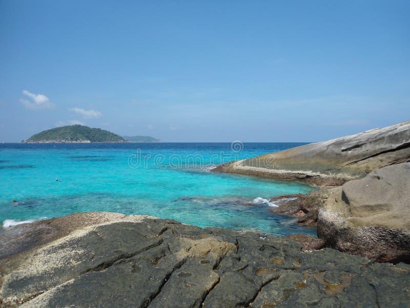 Острова Smilan не далеко от Таиланда стоковые изображения rf