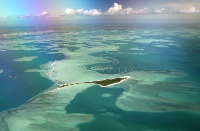 Островок табу Motu стоковая фотография