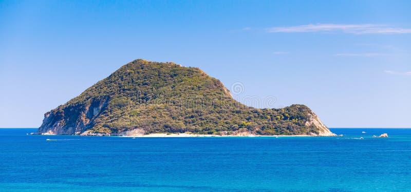 Островок Marathonisi около острова Закинфа, Греции стоковое фото rf