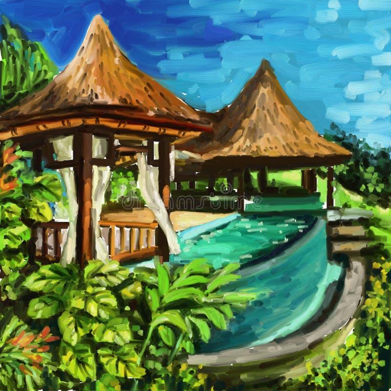 Остров Бали иллюстрация штока