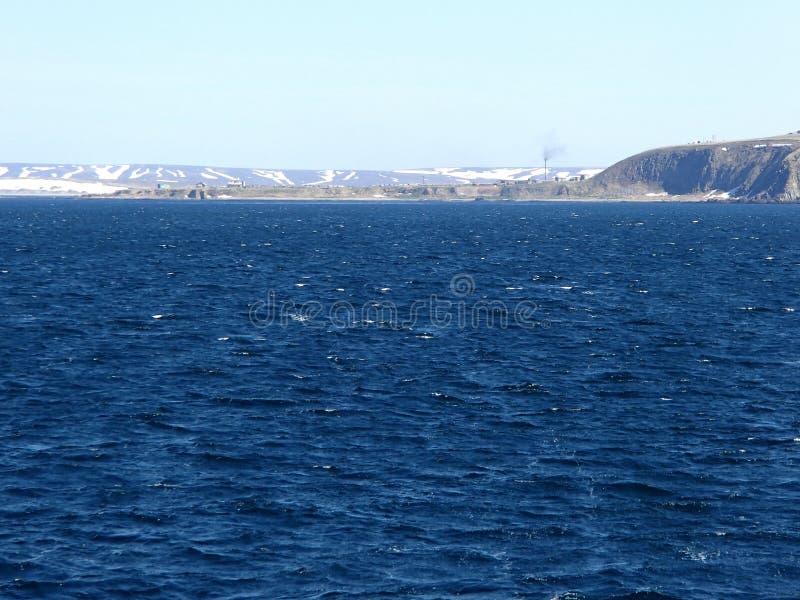 Остров Беринга море Беринга, командир острова стоковая фотография