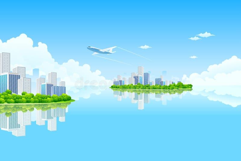 остров города дела бесплатная иллюстрация