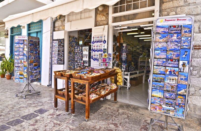 Остров Греция гидры сувенирных магазинов стоковые фото