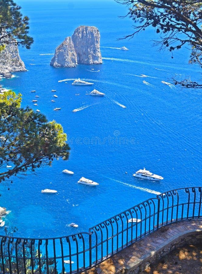 остров Италия capri стоковая фотография rf