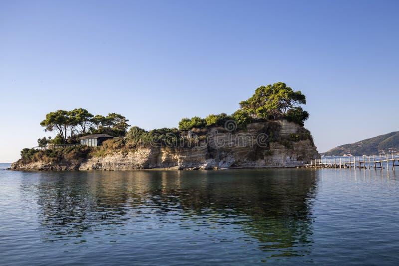Остров камеи на Закинфе, Греции стоковая фотография