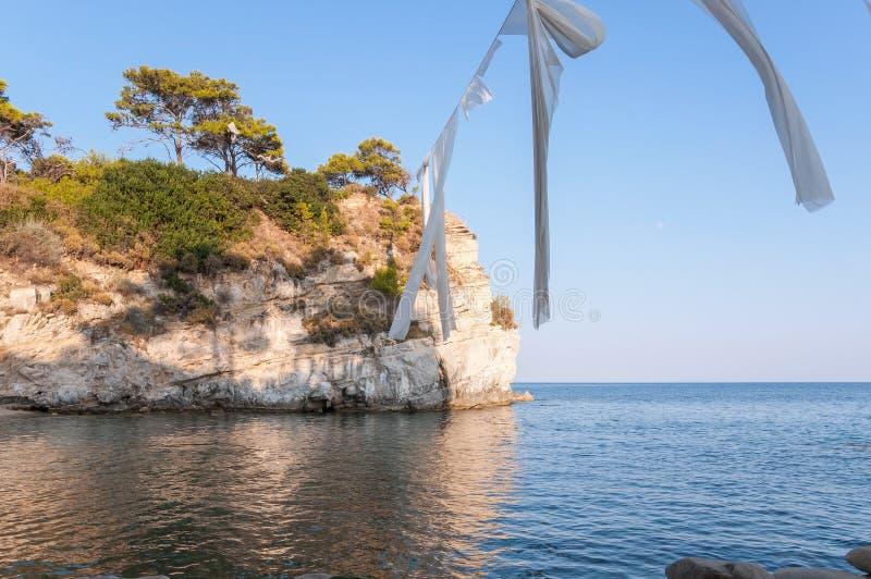 Остров камеи, Zakynhtos, Греция стоковое изображение