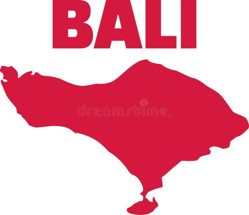 Остров карты Бали иллюстрация вектора