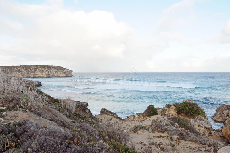 Остров кенгуру, замечательные утесы, южная Австралия стоковые изображения rf