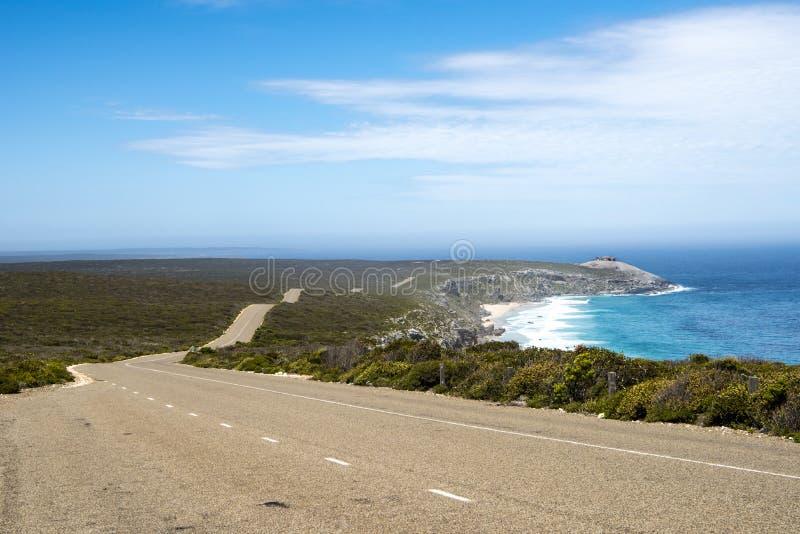 Остров кенгуру Gravelroad, Австралия стоковое фото rf