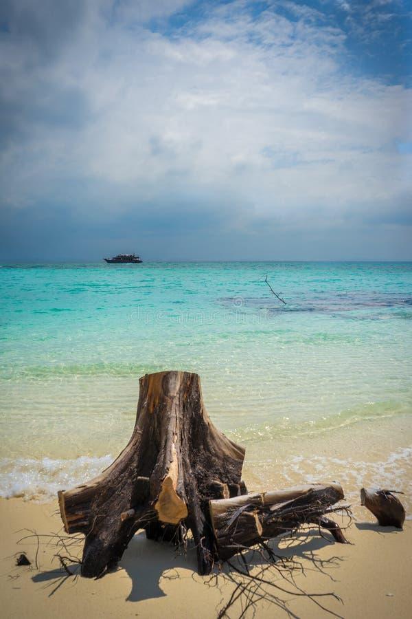 Остров 2 кокоса стоковая фотография