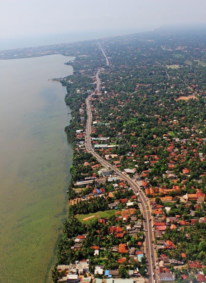 Остров Коломбо Шри-Ланка воздушного взгляд сверху гремя современный тропический стоковая фотография rf