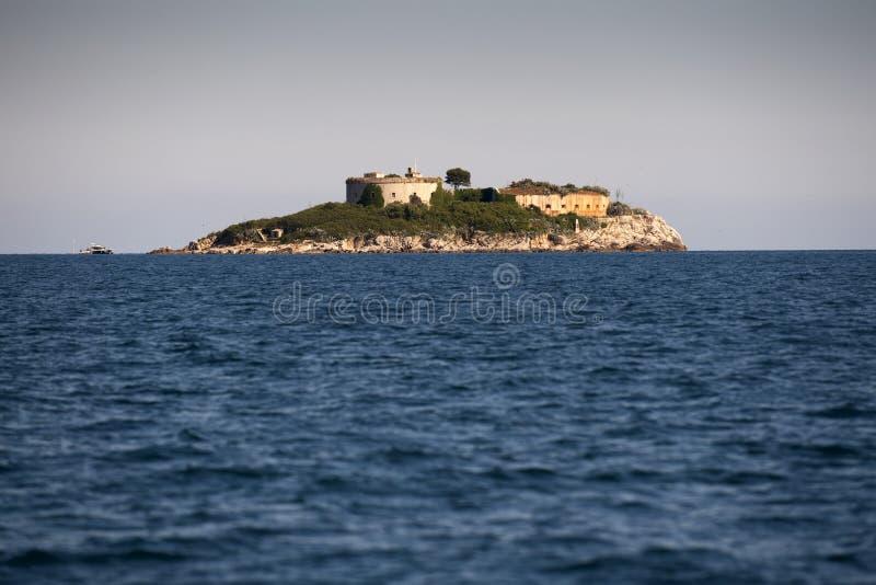 Остров крепости Mamula, вход к заливу Boka Kotorska, Черногории стоковое фото rf