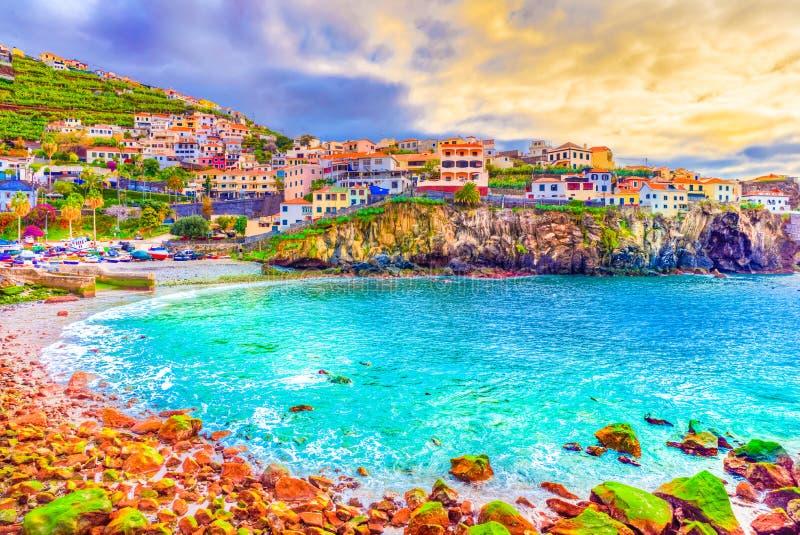 Остров Мадейры †Camara de Lobos «, Португалия стоковые фотографии rf