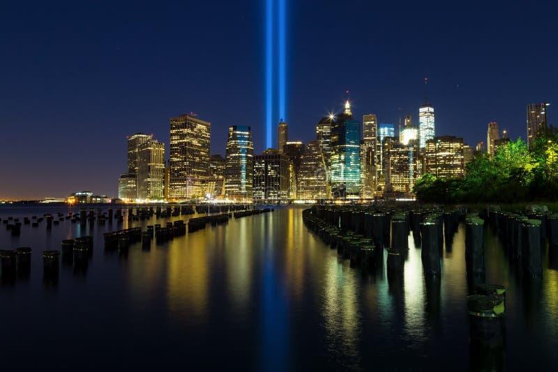Остров Манхаттана 11-ого сентября стоковые фотографии rf