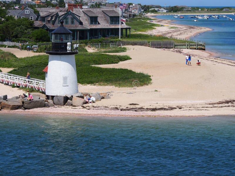 Остров Нантукета маяка пункта Brant стоковые фото