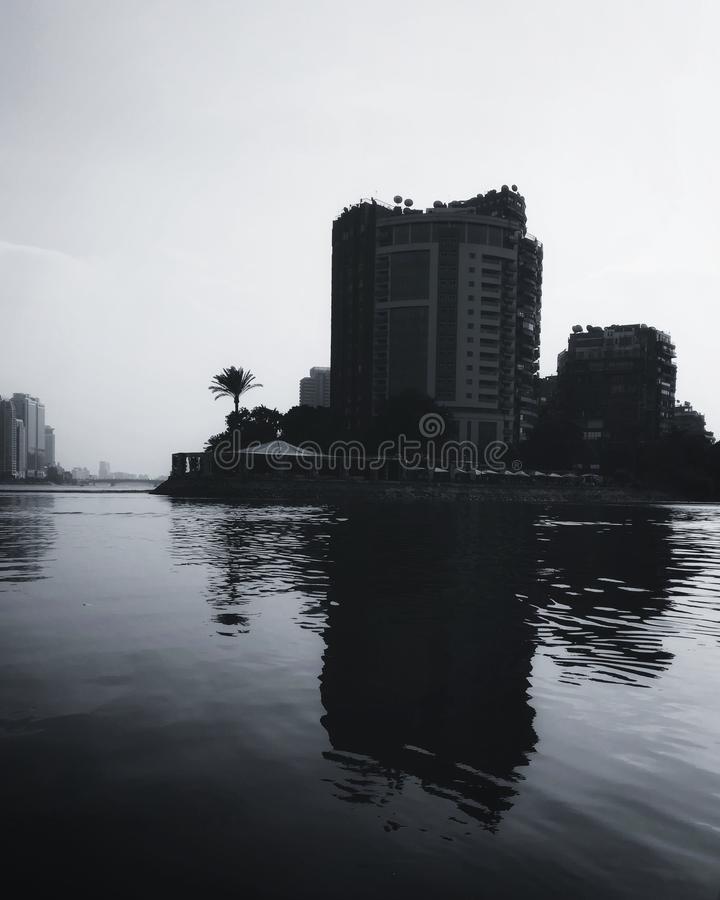 Остров на Ниле стоковые изображения