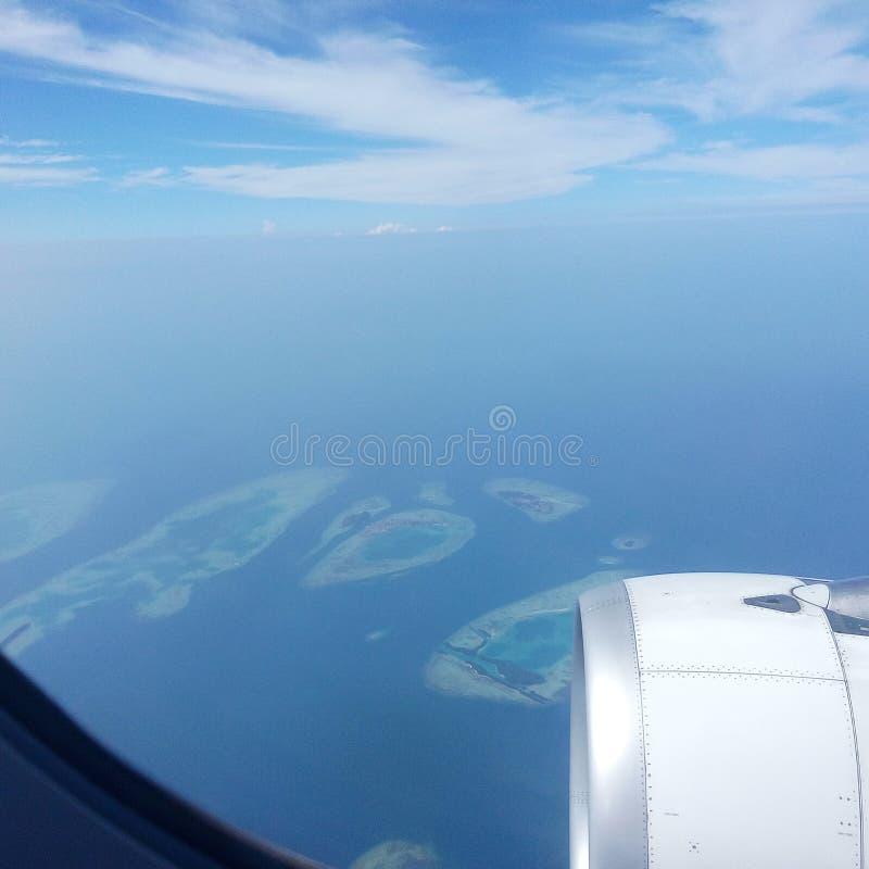 Остров от взгляд сверху стоковые изображения