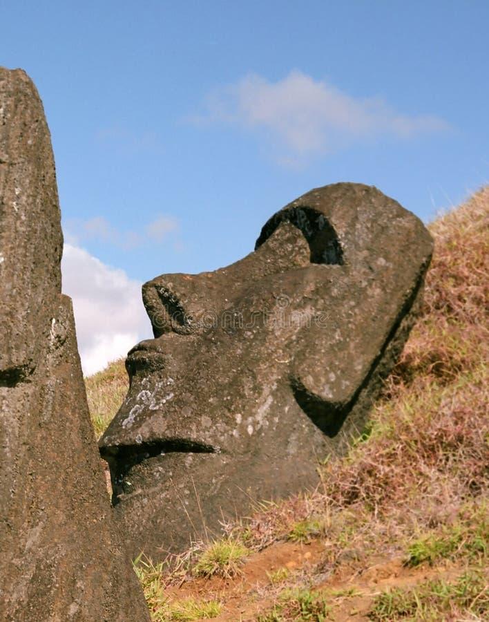 Download остров пасхи стоковое изображение. изображение насчитывающей памятник - 6868181