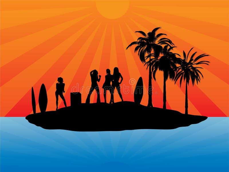 остров праздника иллюстрация вектора